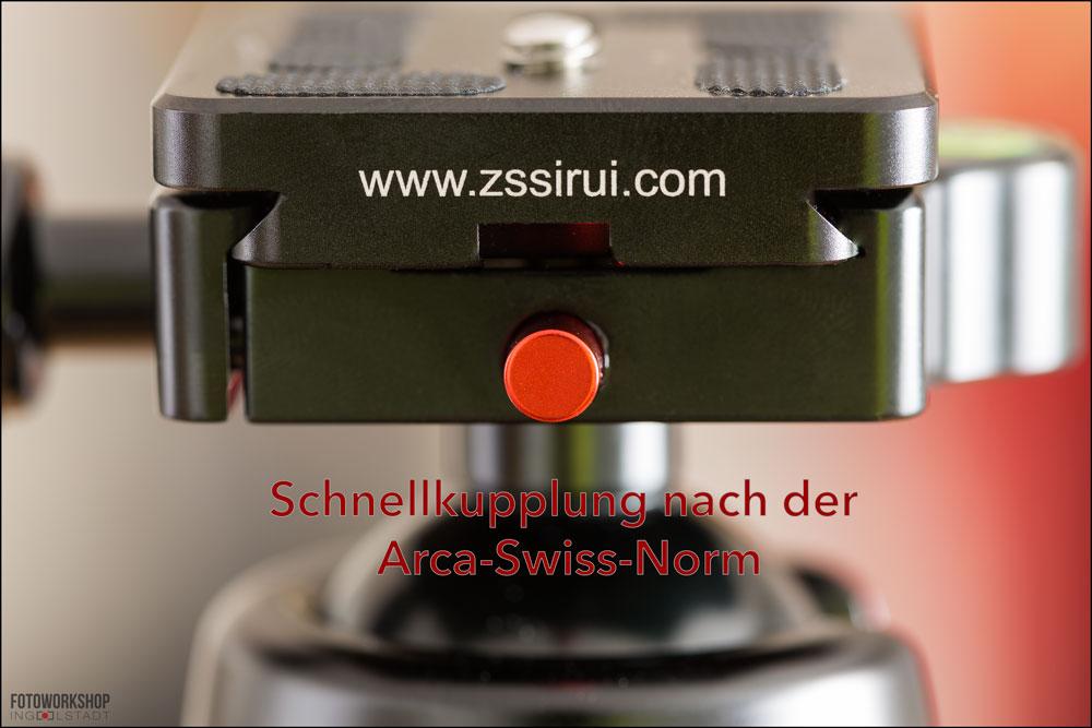 Sirui-K-20X-Arca-Swiss Schnellkupplung