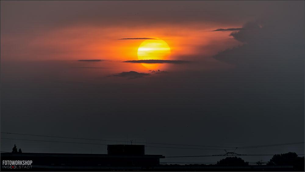 Sonnenuntergang Dresden Elbufer
