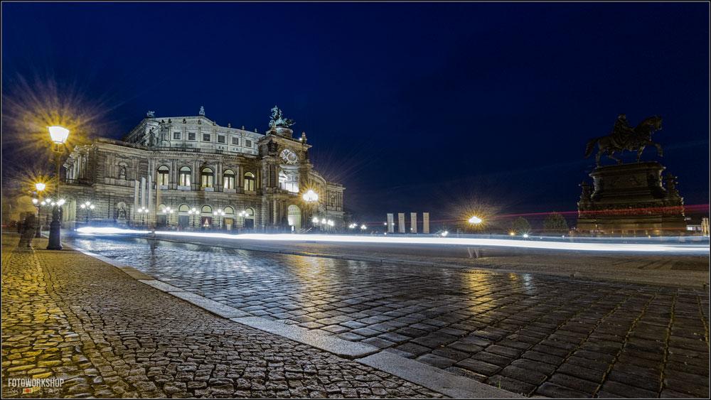 Semperoper Dresden Langzeitbelichtung