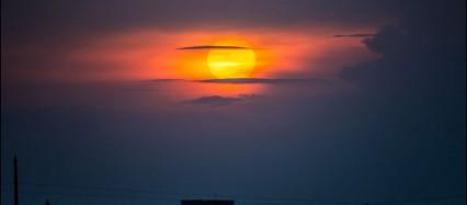 Sonnenuntergang Dresden