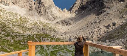 Terasse in den Alpen