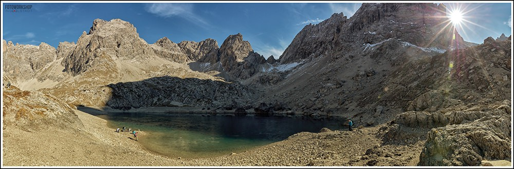 Panorama Bergsee Lienzer Dolomiten