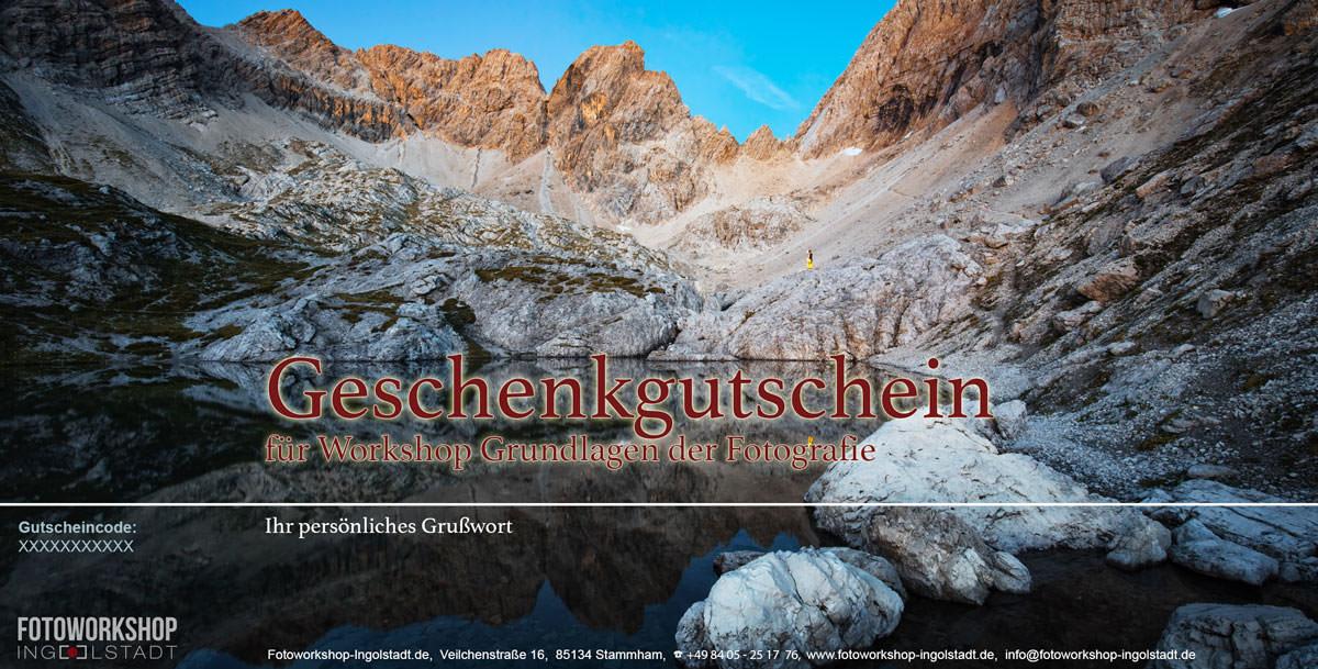 Gutschein Fotoworkshop Bergsee