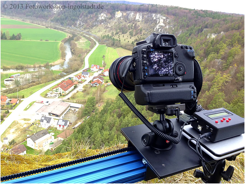 Slider Dolly Stage Zero mit Kamera