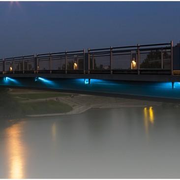 Donausteg_Ingolstadt_Nacht