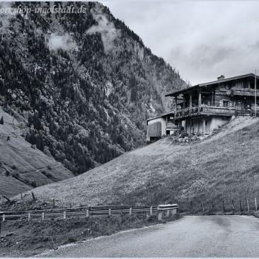Alm in den Alpen