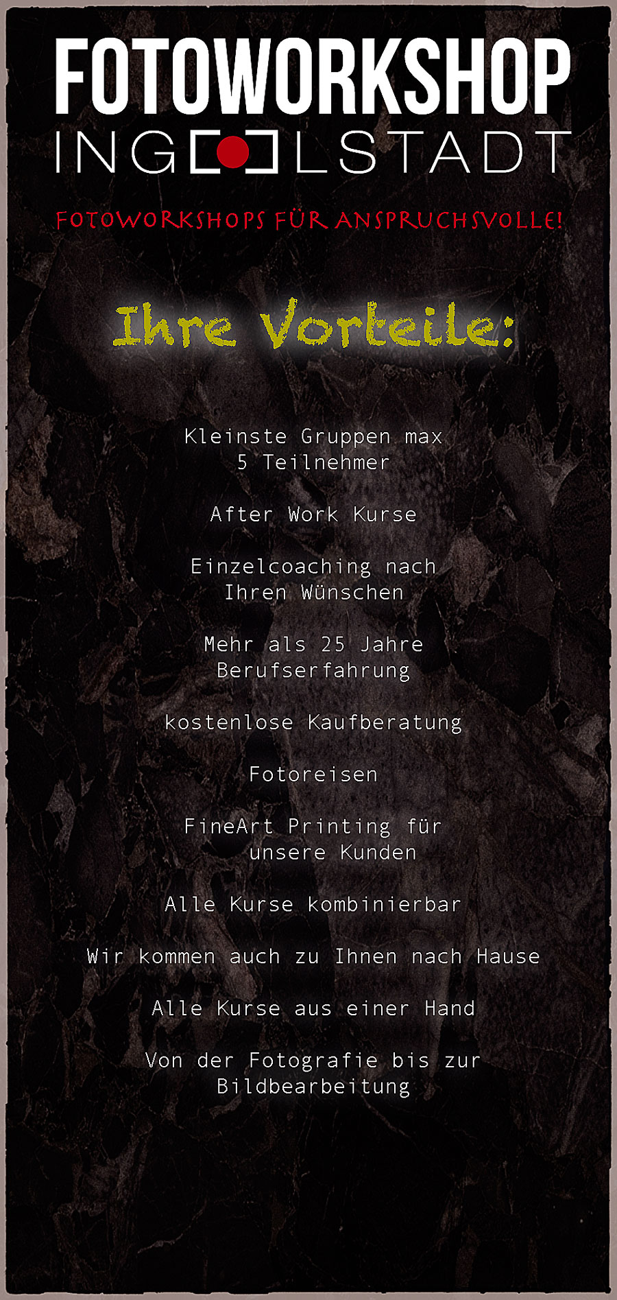 Vorteil Fotoworkshop-Ingolstadt.de