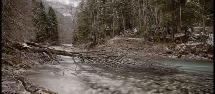 Flusslandschaft Ahornboden HDR Fotografie