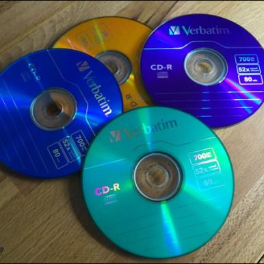 verklebte CD-Rohlinge
