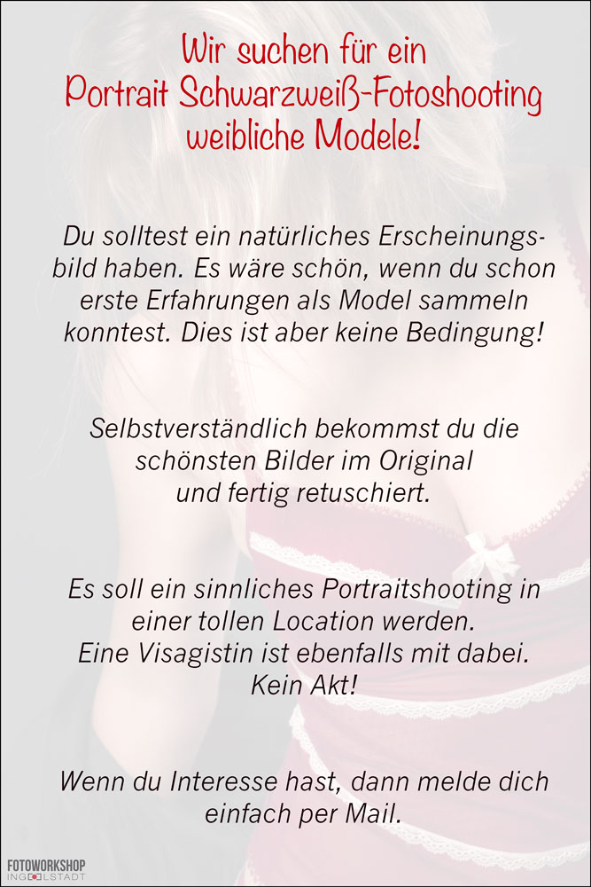 Fotomodel gesucht Fotoworkshop-Ingolstadt