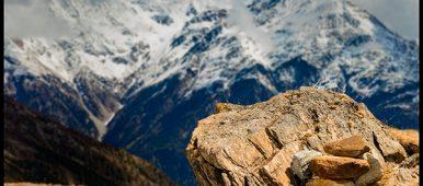 Landschaft Alpen geringe Schärfe