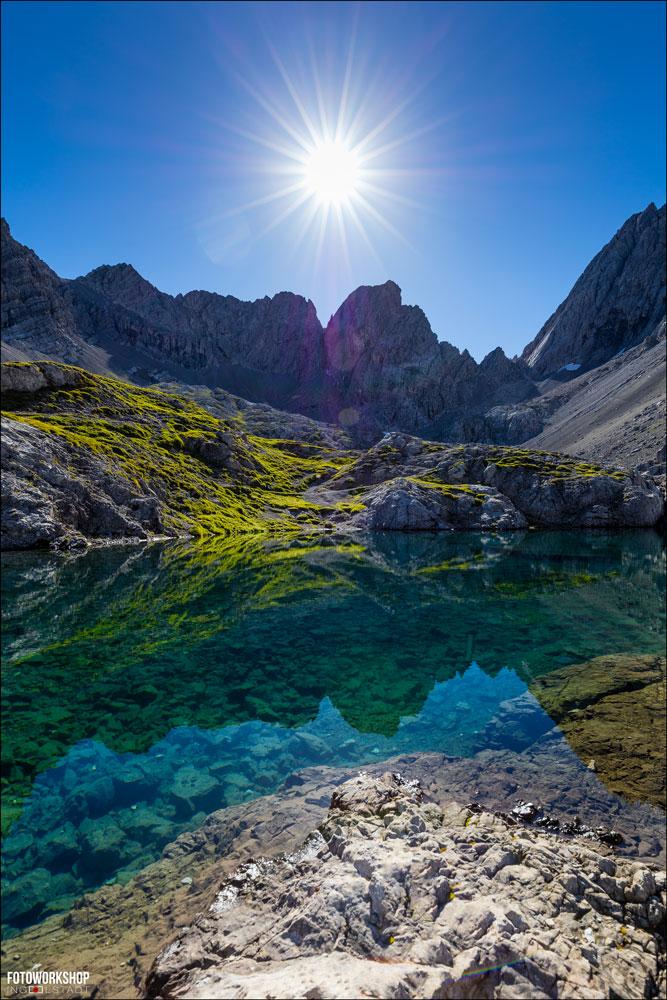 Alpen Gipfel Bergsee Spiegelbild