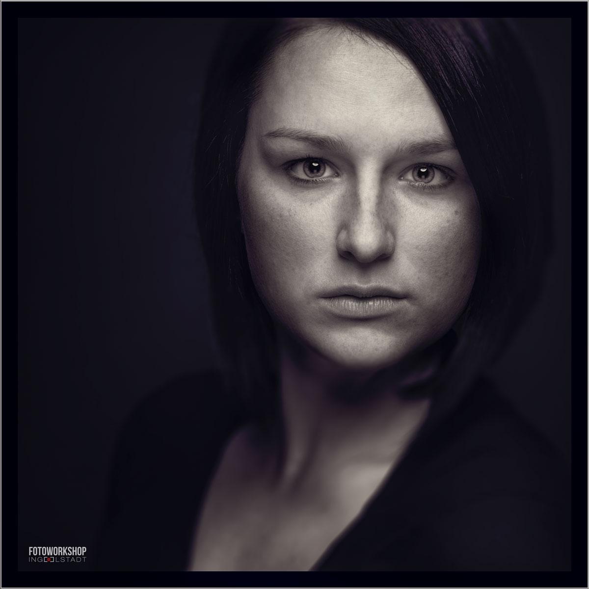Shooting Portrait Cindy Schwarzweiss