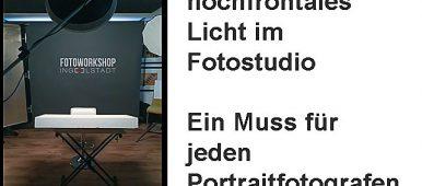 slider hochfrontales Licht im Fotostudio