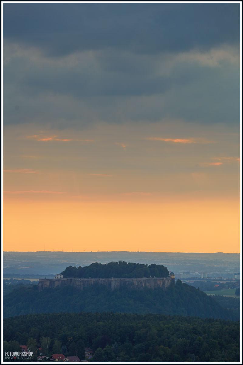 Elbsandsteingebirge-Sonnenuntergang