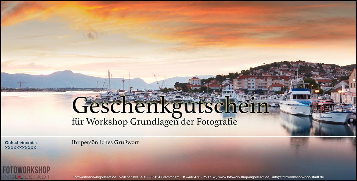 Gutschein Fotoworkshop Abendrot-Meer